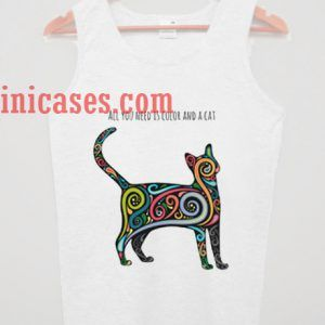 All yoou need is color and a cat tank top unisex
