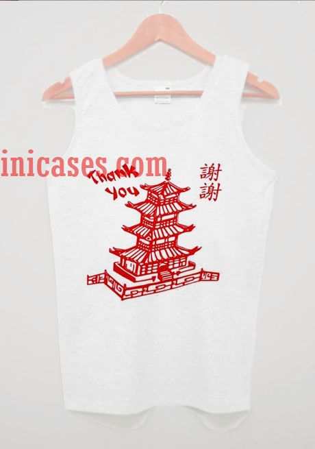 China Tower English Chinese thank you tank top unisex