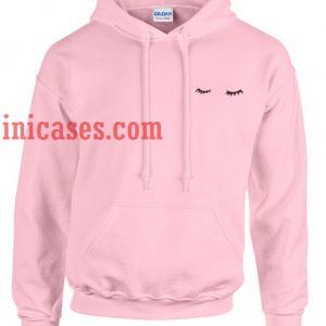 Eyelashes pink Hoodie pullover