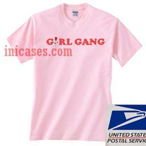 Girl Gang Flower Pink T shirt