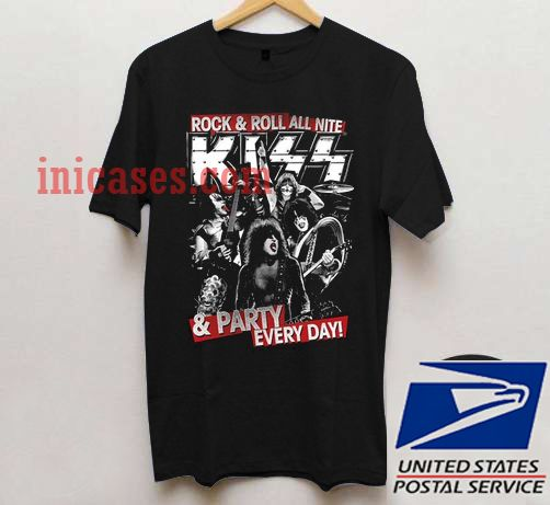 Kiss rock and roll all nite t shirt for Rock and roll shirt shop
