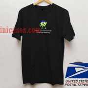 Monster University there is a fine monster T shirt