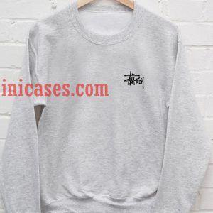 Stussy Logo Grey Sweatshirt