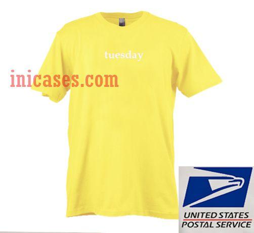 Tuesday yellow T shirt