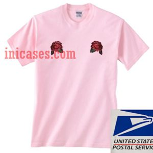Two Rose Flower Pink T shirt