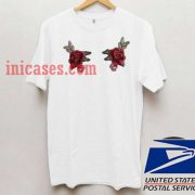 Two Rose flower T shirt