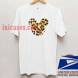 minnie mouse cheetah T shirt
