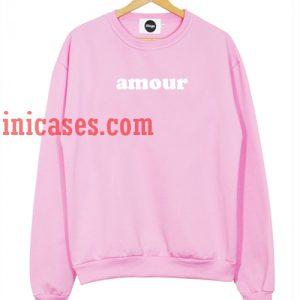 Amour pink Sweatshirt for Men And Women