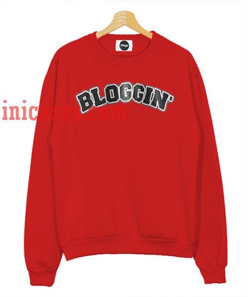 Bloggin Red Sweatshirt for Men And Women