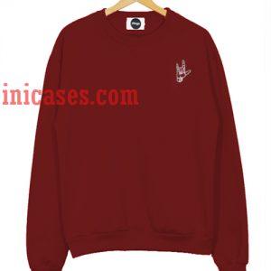 Metal hand Sweatshirt for Men And Women