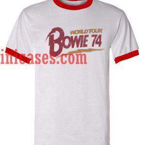 World Tour Bowie 74 ringer t shirt
