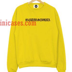 Ariana Grande Yellow Sweatshirt Men And Women