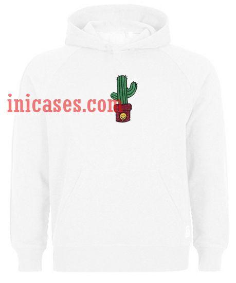Cactus White Hoodie pullover