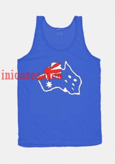 Flag map blue tank top unisex