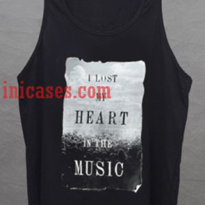 I Lost My Heart In Music tank top unisex