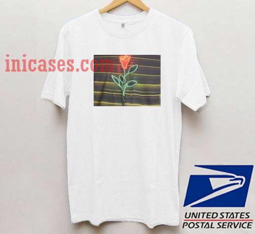Louis Tomlinson Neon Rose T shirt