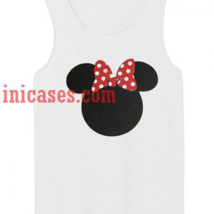 Minnie Mouse ears tank top unisex