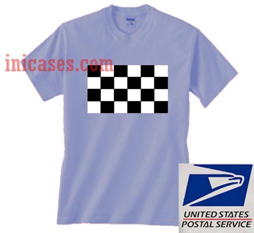 Racing Flag On T shirt