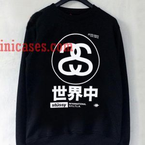 Stussy Japan black Sweatshirt for Men And Women