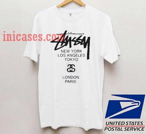 Stussy World Tour T shirt