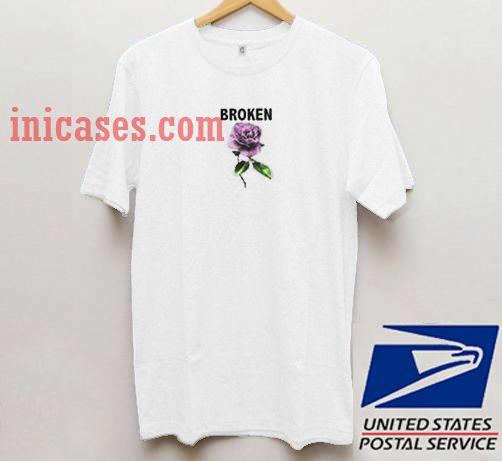 Broken with flower T shirt