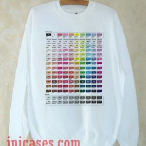 Color Chart Sweatshirt Men And Women