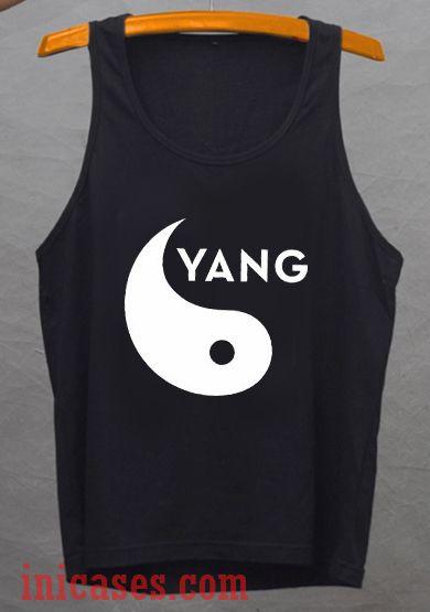 Cute yin yang tank top unisex