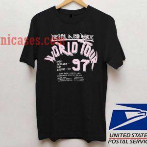 Metal And Rock World Tour 97 T shirt