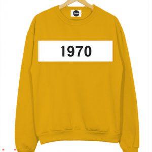 1970 Mustard Sweatshirt Men And Women