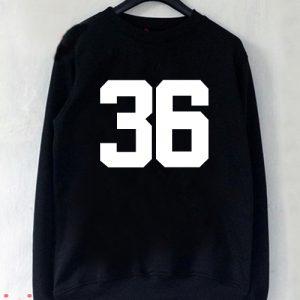 36 Number Sweatshirt Men And Women
