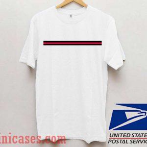 Stripe black red T shirt