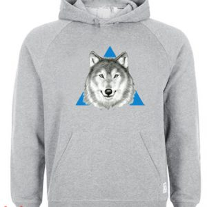 Wolf Face Hoodie pullover