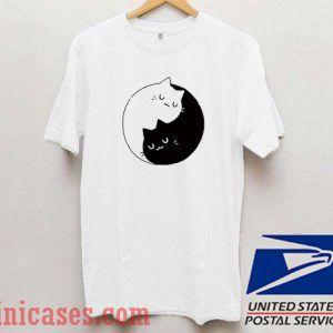 Yin Yang Cats T shirt