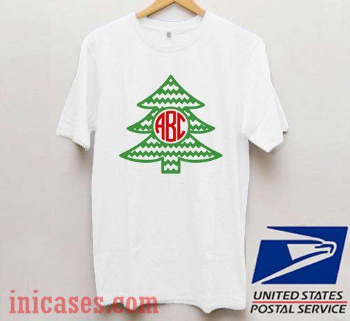 ABC Christmas Tree T shirt