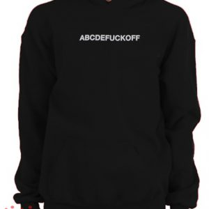 Abcdefuckoff Hoodie pullover