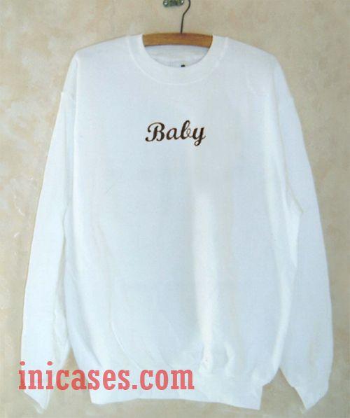 Baby White Sweatshirt Men And Women
