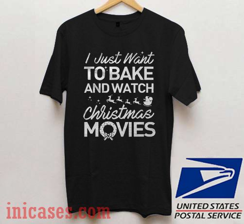 Bake And Watch Christmas Movie T shirt