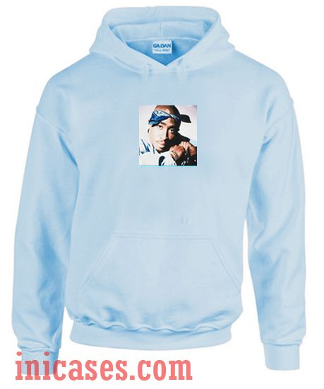 Blue Tupac 4 Life Hoodie pullover