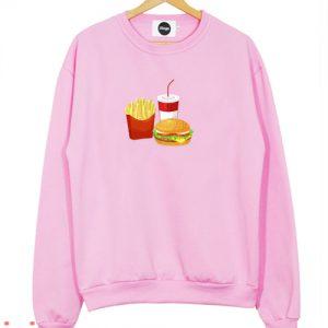Burger Soda And Fries Sweatshirt Men And Women