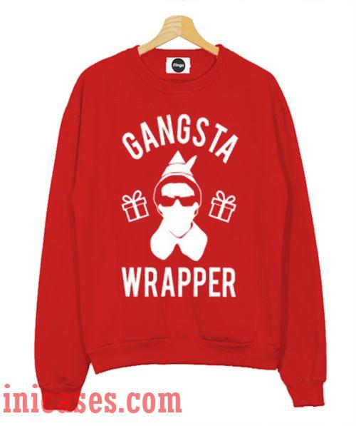 Gangsta Wrapper Elf Christmas Sweatshirt Men And Women