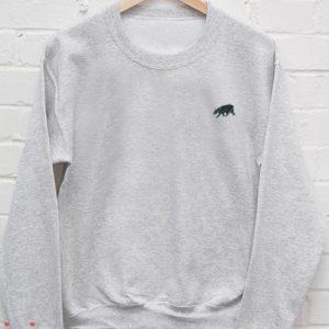 Grey California Bear Sweatshirt Men And Women