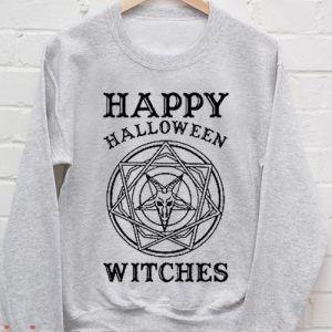 Happy Halloween WItches Grey Sweatshirt Men And Women