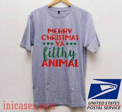 Merry Christmas Ya Filthy Animal Shirt.Merry Christmas Ya Filthy Animal T Shirt