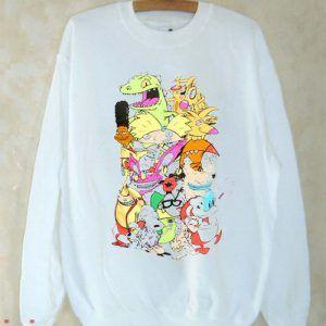 Nickelodeon Retro Group Sweatshirt Men And Women