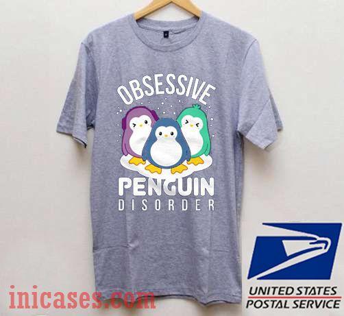 Obsessive Penguin Disorder Winter Christmas T shirt
