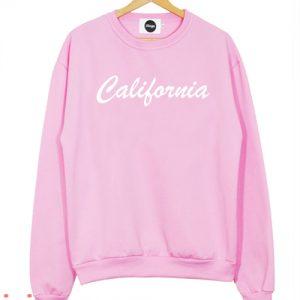 Pink Calfornia Sweatshirt Men And Women
