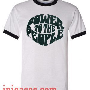 Power Of the People ringer t shirt