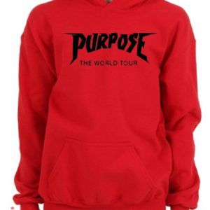 Purpose The World Tour Red Hoodie pullover