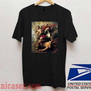 Saint Michael Expelling Lucifer And The Rebellious Angels T shirt