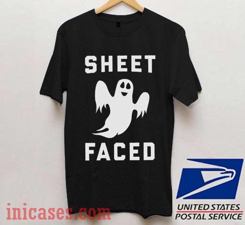 Sheet Faced Halloween T shirt